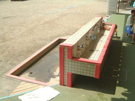 安全管理体制-手洗い・足洗い